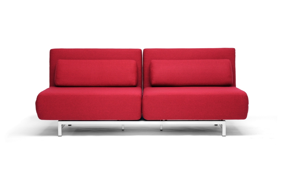 Stella Red Convertible Sofa Bed Chair Set